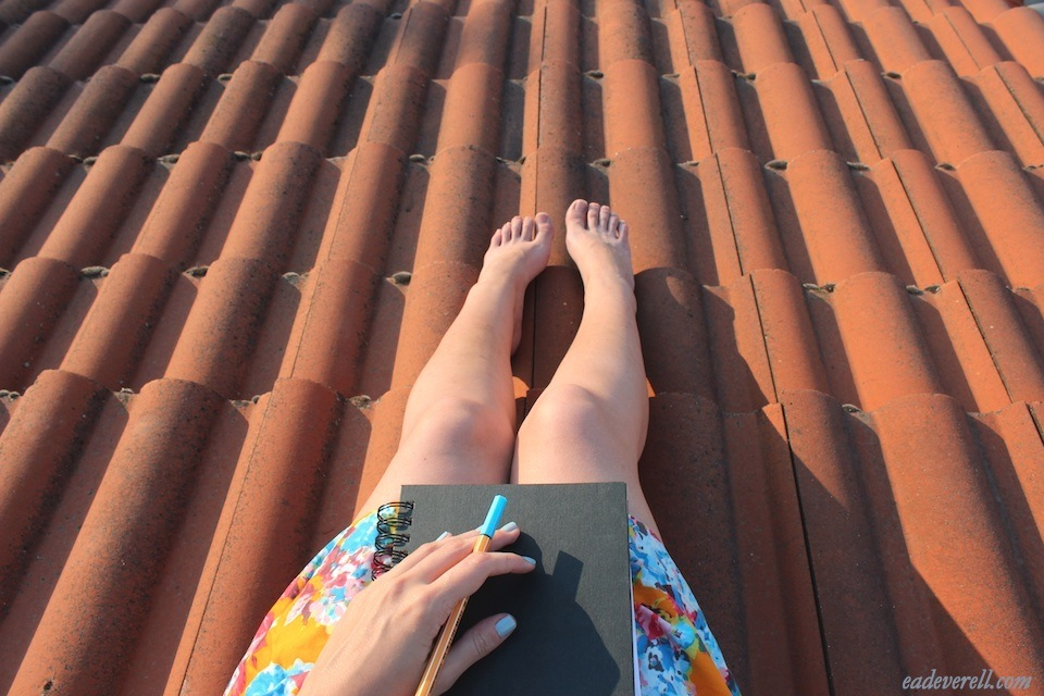 Sitting on the roof