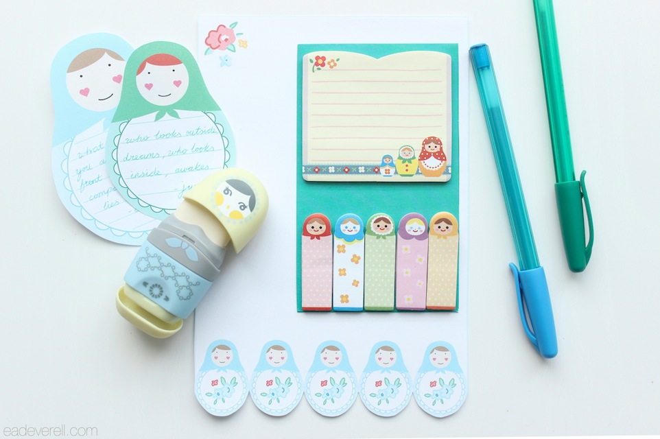 Matryoshka Stationery