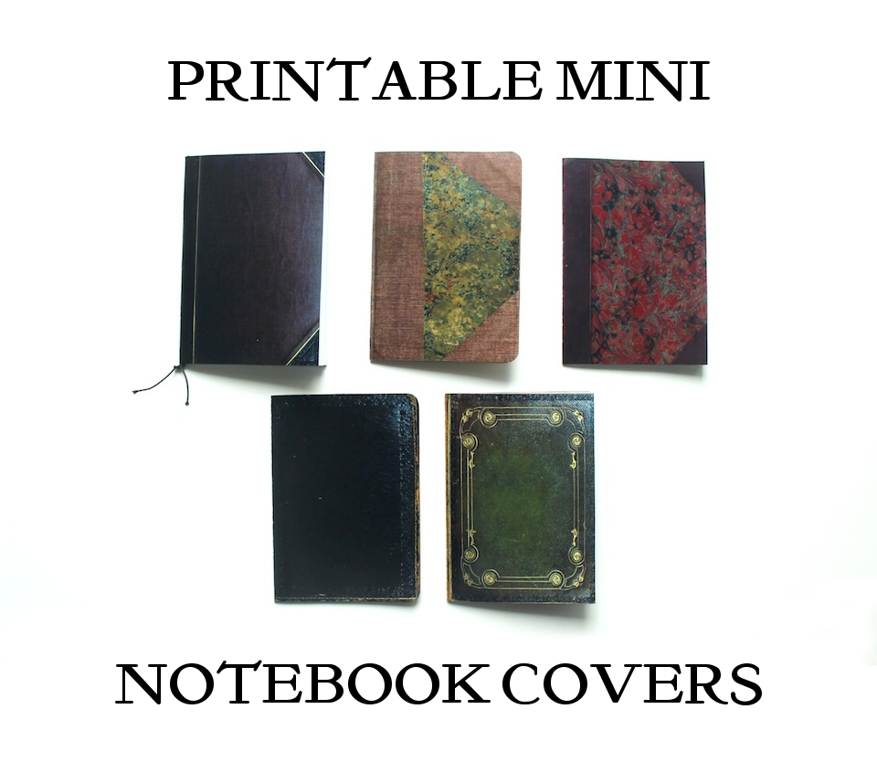 Printable Mini Journal Covers
