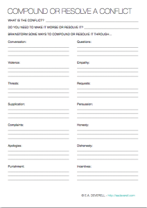 Worksheet Conflict Resolution Worksheets conflict worksheet resolution worksheet