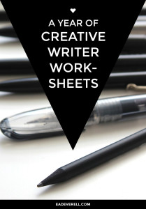 A Year of Creative Writer Worksheets