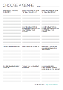 Printables Genre Worksheet choose a genre writing worksheet wednesday worksheet