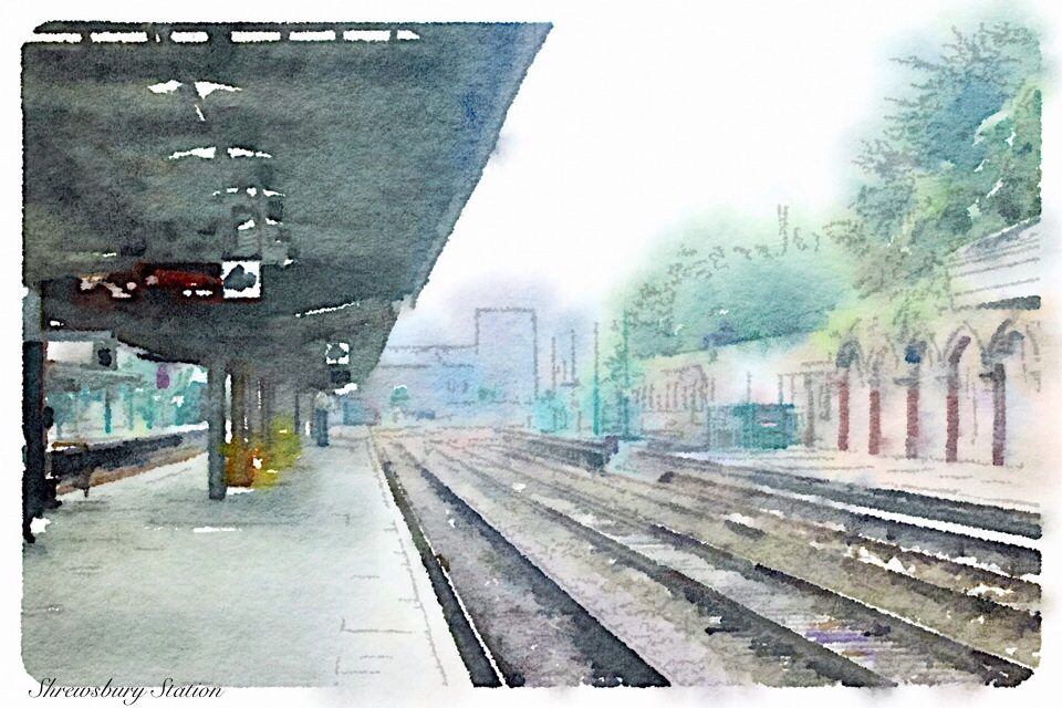 Shrewsbury station platform