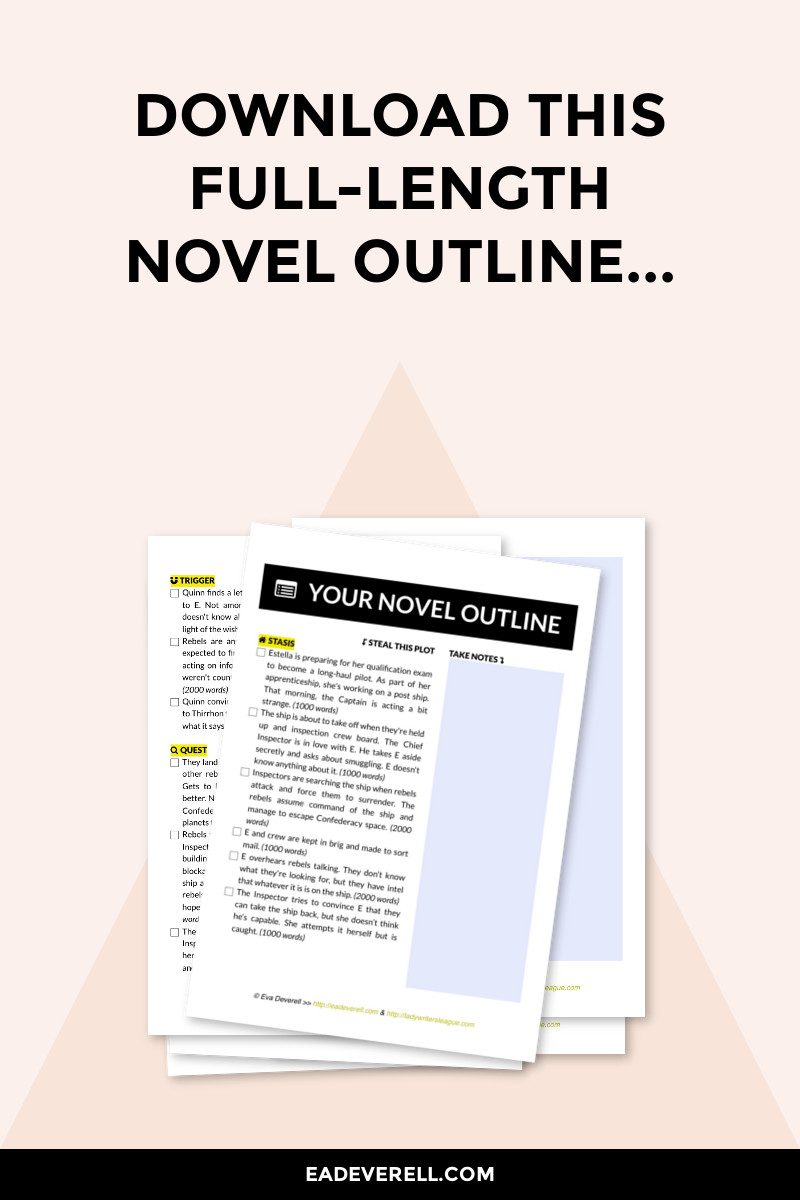 Novel Outline X on writing worksheets