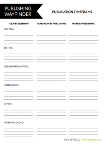 Publishing Worksheet