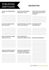 Traditional Publishing Worksheet