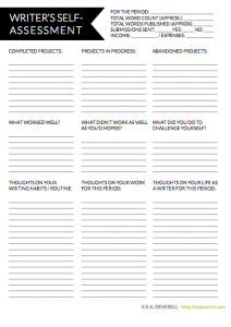Self-Assessment Worksheet