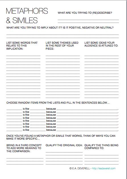Creative writing worksheets pdf