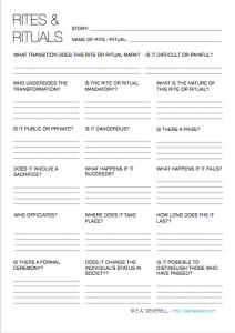 Creative Writing Worksheet - Worldbuilding