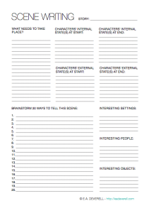 Scene Worksheet