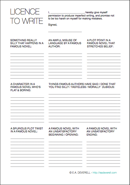 Creative Writing Worksheet